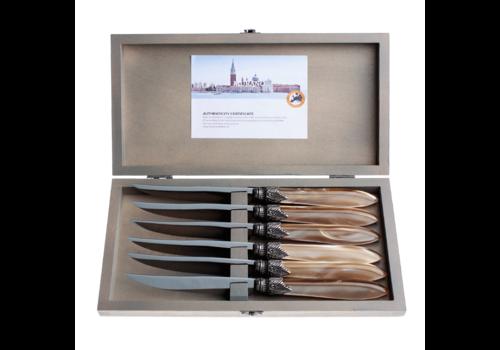 Murano Murano 6 Steakmesser in Kiste Champagne