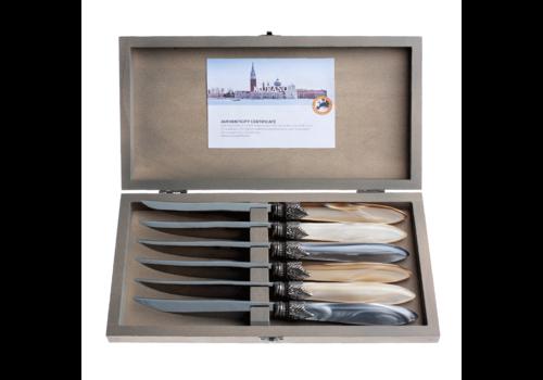 Murano Murano 6 Steak Knives in Box Chateau Mix