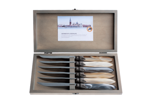 Murano Murano 6 Steakmessen in Kistje Château Mix