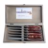 Murano Murano 6 Steakmesser in Kiste Chocolat Braun