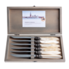 Murano Murano 6 Steakmesser in Kiste Cremeweiß