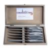 "Murano Murano 6 Steakmesser ""Hellgrau"" in Kiste"