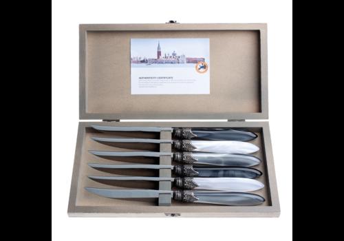 Murano Murano 6 Steakmessen in Kistje Loft Mix