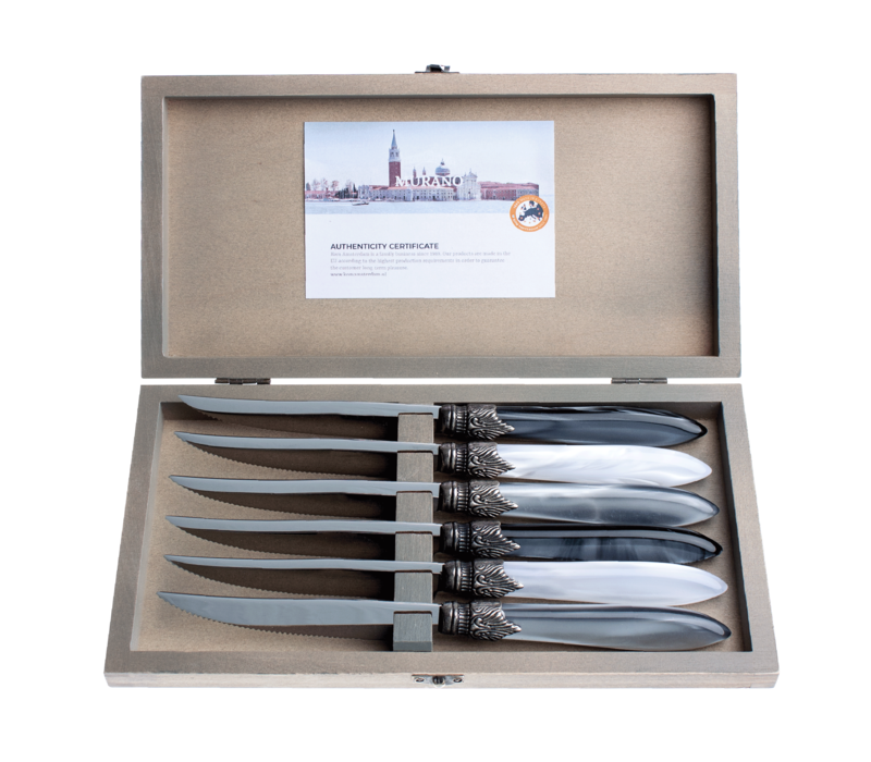Murano 6 Steak Knives in Box Loft Mix