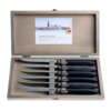 Murano Murano 6 Steak Knives in Box Matt Black