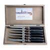 Murano Murano 6 Steakmesser in Kiste Matt Schwarz