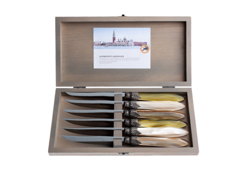 Murano Murano 6 Steak Knives in Box  Meadow Mix