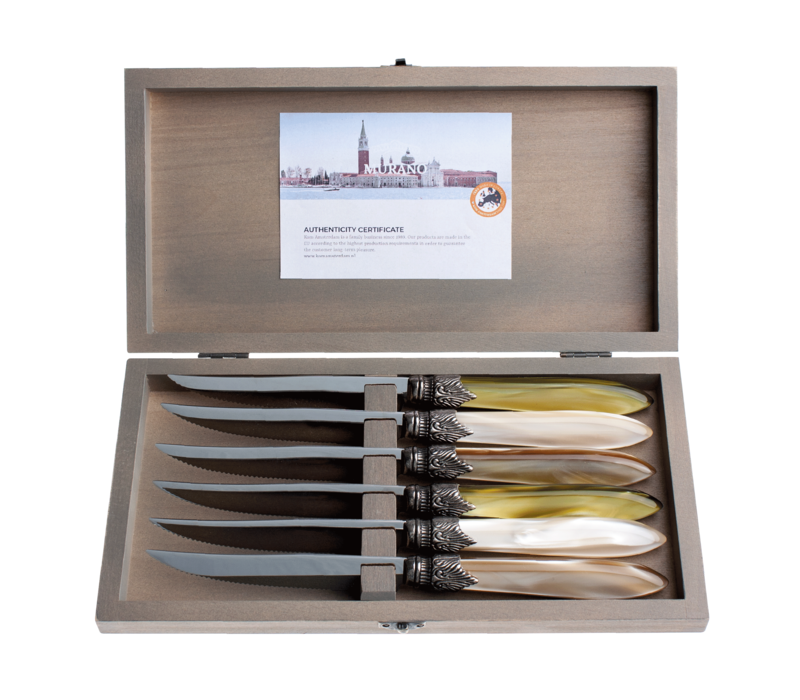Murano 6 Steak Knives in Box  Meadow Mix