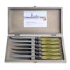 Murano Murano 6 Steak Knives in Box Olive Green
