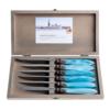 Murano Murano 6 Steak Knives in Box Turquoise