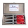Murano Murano 6 Steak Knives in Box Flame Red