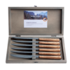 Kom Amsterdam Wood Style 6 Steak Knives in Box Cedar