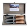 Kom Amsterdam Wood Style 6 Steakmesser in Kiste Cedar
