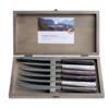 Kom Amsterdam Wood Style 6 Steak Knives in Box Glacier Mix