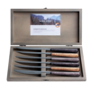 Kom Amsterdam Wood Style 6 Steak Knives in Box Sequoia Mix