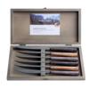 Kom Amsterdam Wood Style 6 Steakmessen in kistje Sequoia Mix