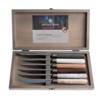 Kom Amsterdam Antique Wood 6 Steak Knives in Box Full Range