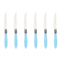 Murano 6 Steak Knives in Box Turquoise