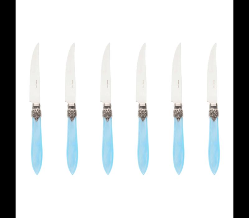 Murano 6 Steakmesser in Kiste TŸrkis