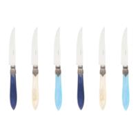 Murano 6 Steak Knives in Box Sea Mix
