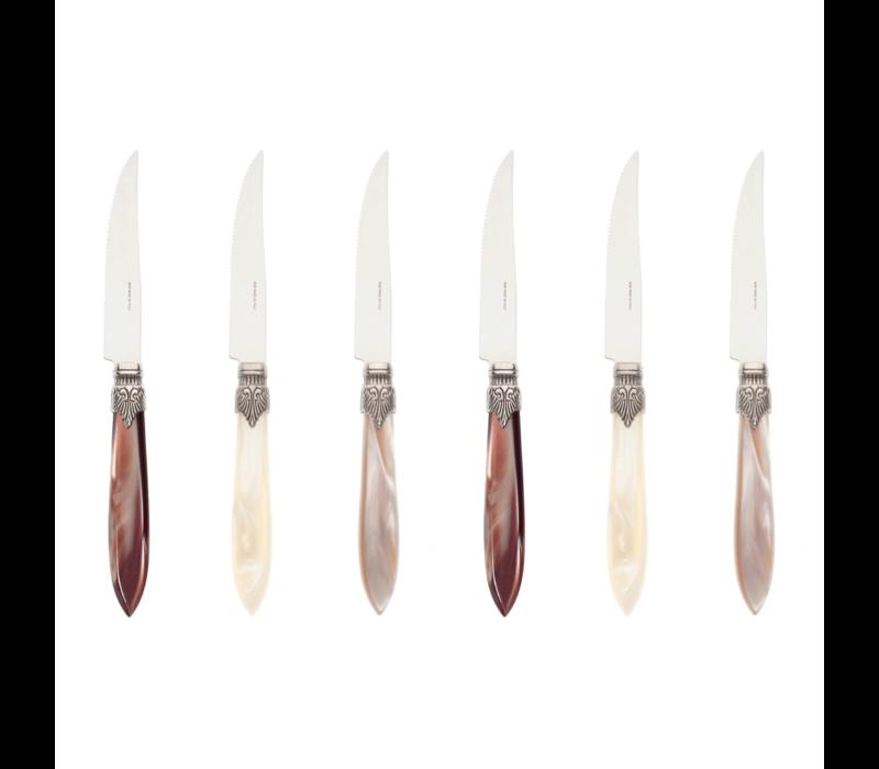 Murano 6 Steak Knives in Box Ranger Mix