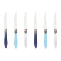 Murano 6 Steakmesser in Kiste Pacific Mix