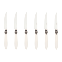 Murano 6 Steak Knives in Box Matt Ivory