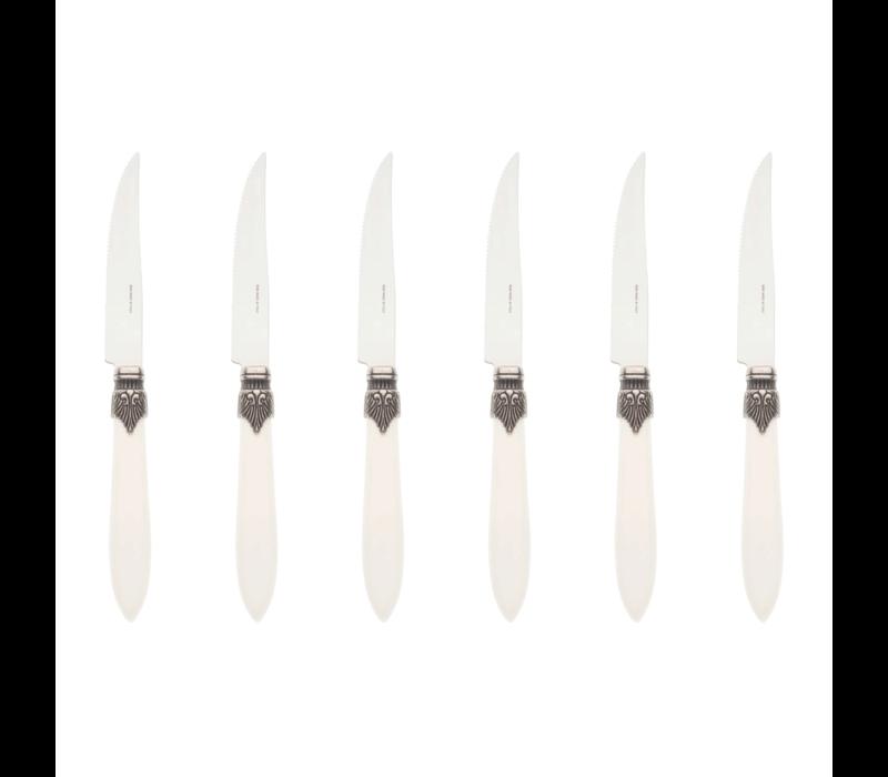 Murano 6 Steakmesser in Kiste Matt Wei§