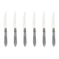 Murano 6 Steakmesser in Kiste Hellgrau