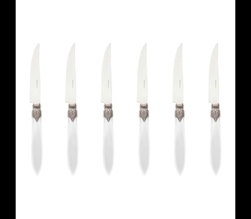 Murano 6 Steakmesser in Kiste Wei§