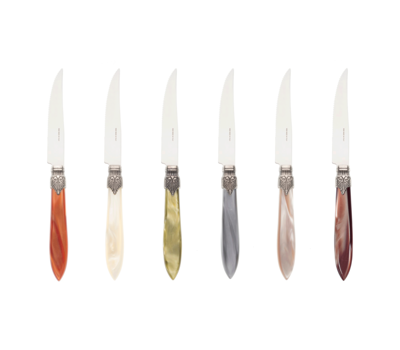Murano 6 Steak Knives in Box Fresco Mix