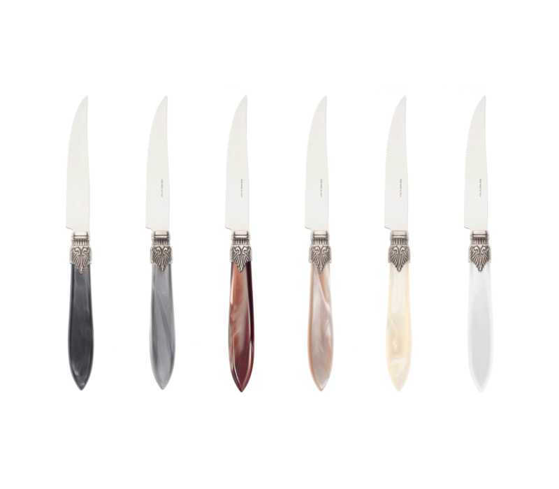 Murano 6 Steakmesser in Kiste Earth Mix