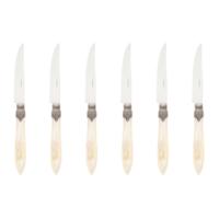 Murano 6 Steakmesser in Kiste Cremeweiß