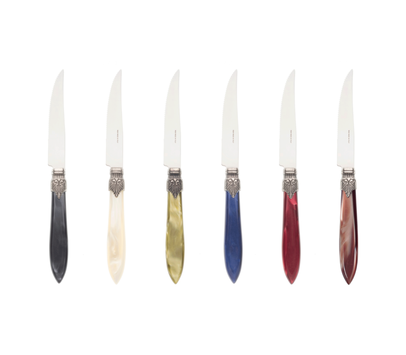Murano 6 Steak Knives in Box Cottage Mix