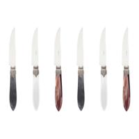 Murano 6 Steak Knives in Box Classic Mix