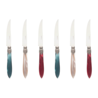 Murano 6 Steak Knives in Box Christmas Mix