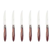 Murano 6 Steak Knives in Box Chocolat Brown