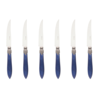 Murano 6 Steak Knives in Box Blue