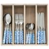 Couvert à la Carte 24-teiliges Besteck-Set gemischte Dekore hellblau