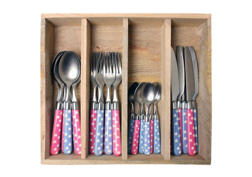 Couvert à la Carte 24-piece cutlery set hearts mix