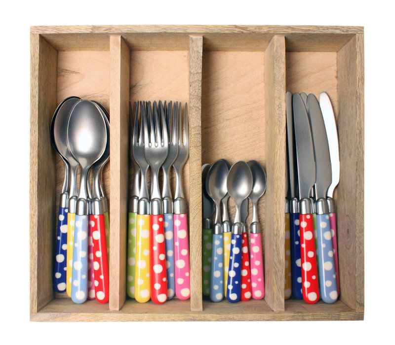 Couvert à la Carte 24-piece cutlery set dots mix