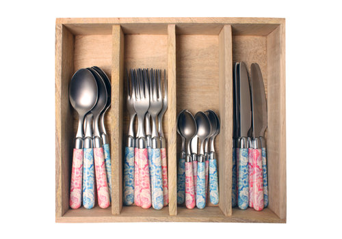 Couvert à la Carte 24-piece cutlery set camellia mix
