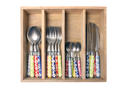 Couvert à la Carte 24-piece cutlery set flower mix