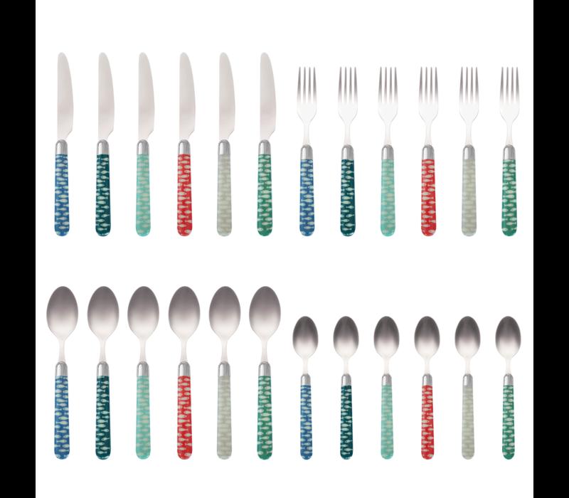 Couvert à la Carte 24-piece cutlery set Sardina
