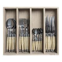 Laguiole cutlery set 24-piece ivory
