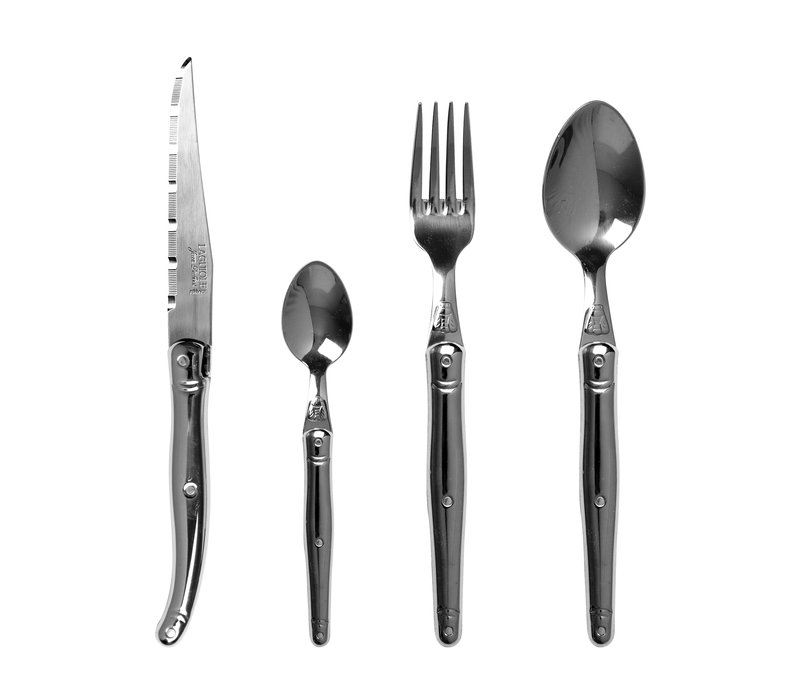 Laguiole cutlery set 24-piece steel