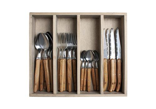 Laguiole Laguiole cutlery set 24-piece oak wood