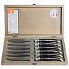Laguiole Laguiole 6 Steakmesser 1,2 mm schwarz in Box