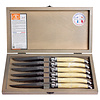 Laguiole Laguiole 6 Steakmesser 1,2 mm Elfenbeinfarbe in Box