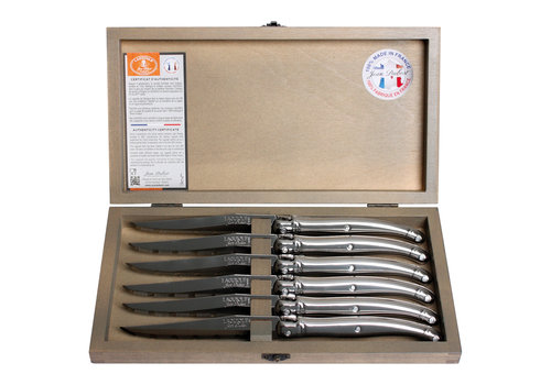 Laguiole Laguiole 6 Steak knives 1.2 mm steel in a box